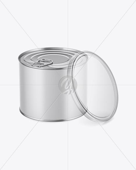 Download Metallic Tin Can With Transparent Cap Mockup Front View High Angle Shot PSD - Free PSD Mockup Templates