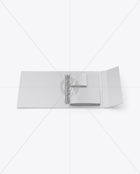 Matte Folder With Brochures Mockup - Front View (High-Angle Shot)