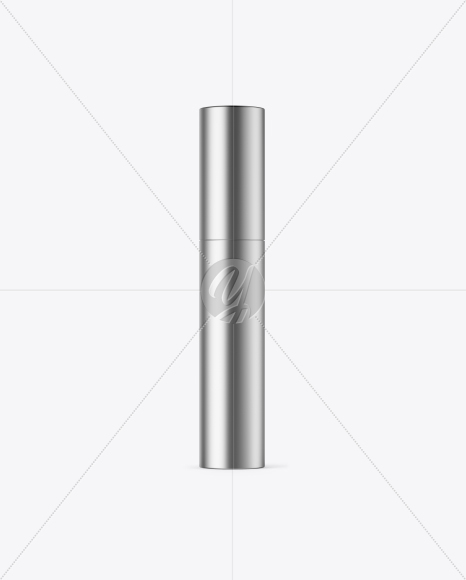 Matte Metallic Mascara Tube Mockup