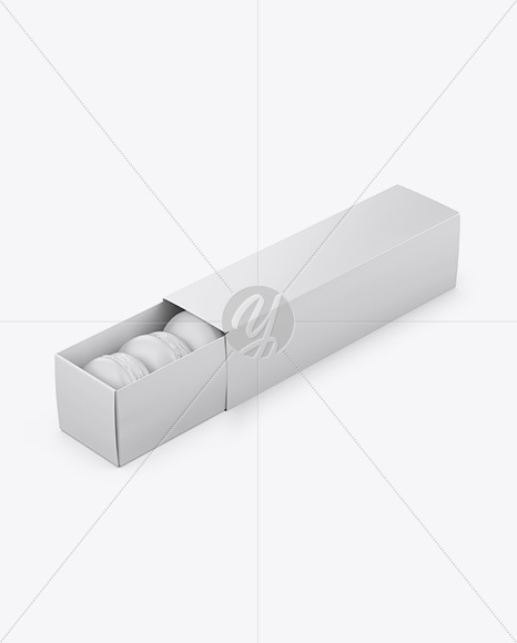 Opened Paper Box Mockup - Half Side View (High-Angle Shot)