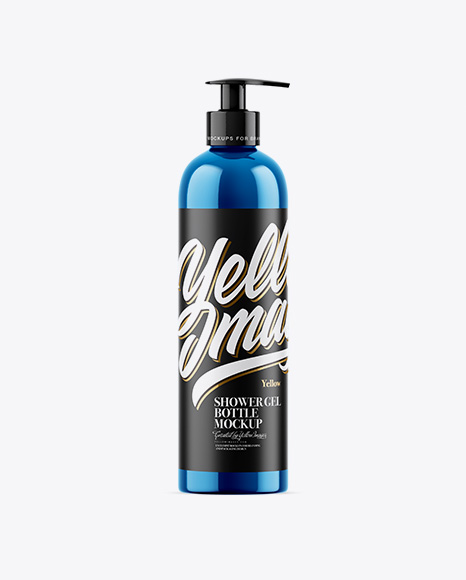 Metallic Shower Gel Bottle Mockup