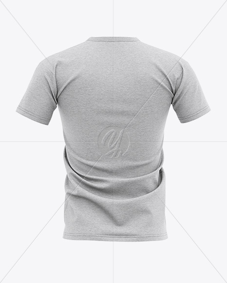Download Men S Heather T Shirt Mockup Back View In Apparel Mockups On Yellow Images Object Mockups PSD Mockup Templates