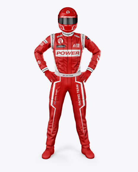 F1 Racing Kit Mockup - Front View