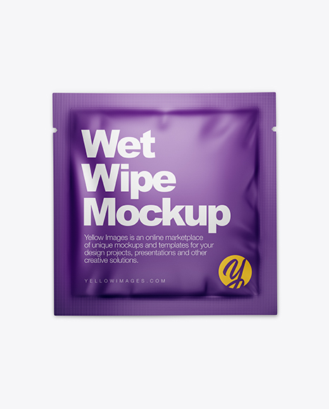 Matte Wet Wipe Pack Mockup - Top View