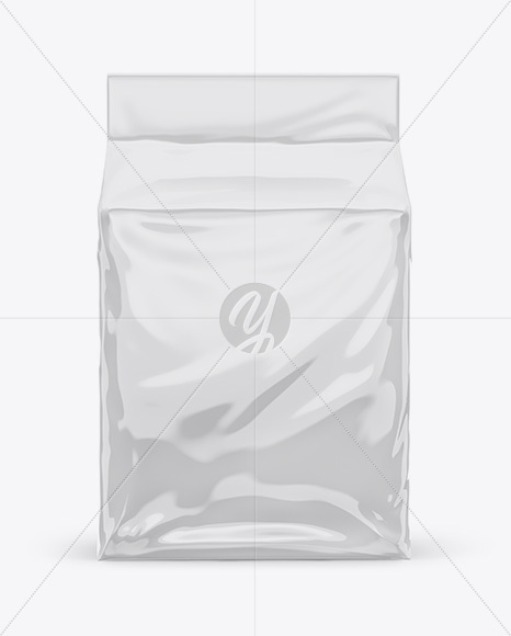 Glossy Stand-up Food Bag Mockup - Front View