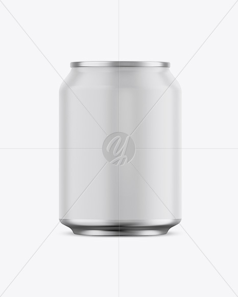 Matte Aluminium Can Mockup - Front View