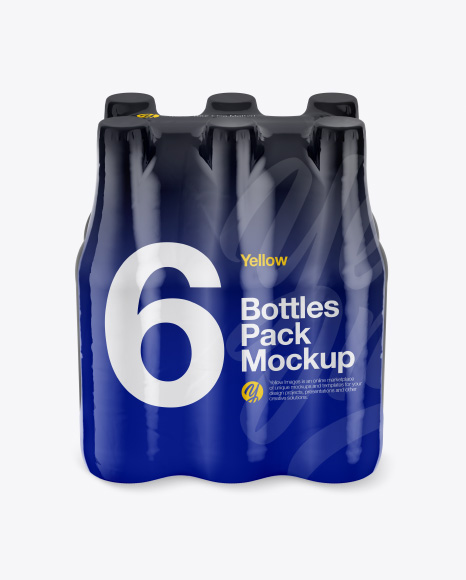 Download 6 Bottles Pack Mockup - Front View (High-Angle Shot) Object Mockups
