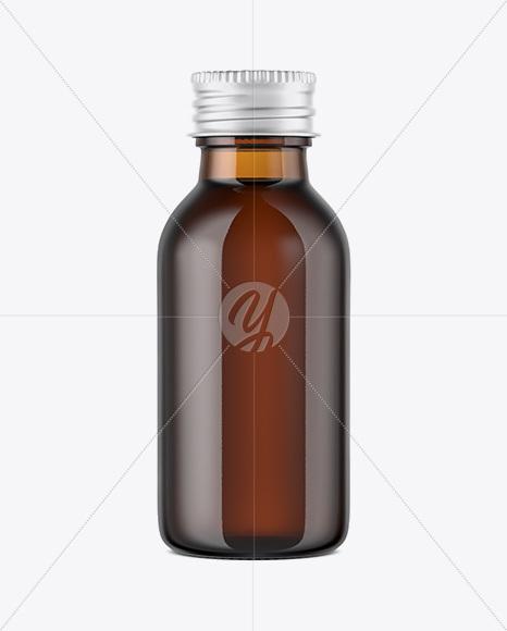 Amber Glass Bottle w/Aluminium Cap