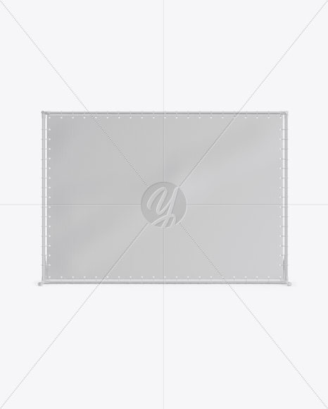 Press Wall Banner with Glossy Frame Mockup