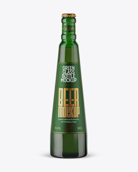 Download Green Glass Beer Bottle Mockup Object Mockups