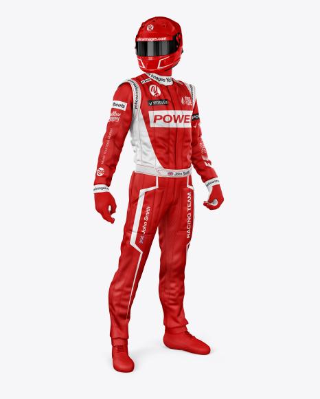 F1 Racing Kit Mockup - Half Side View
