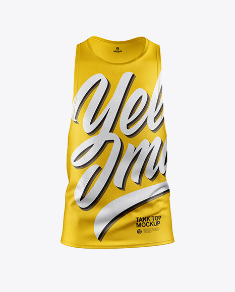 Download Tank Top Mockup - Front View Object Mockups