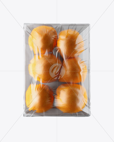 Tray with Oranges Mockup