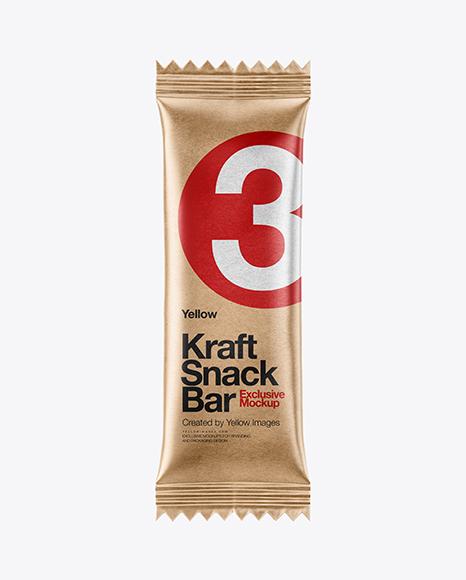 Download Kraft Snack Bar Mockup - Front View Object Mockups