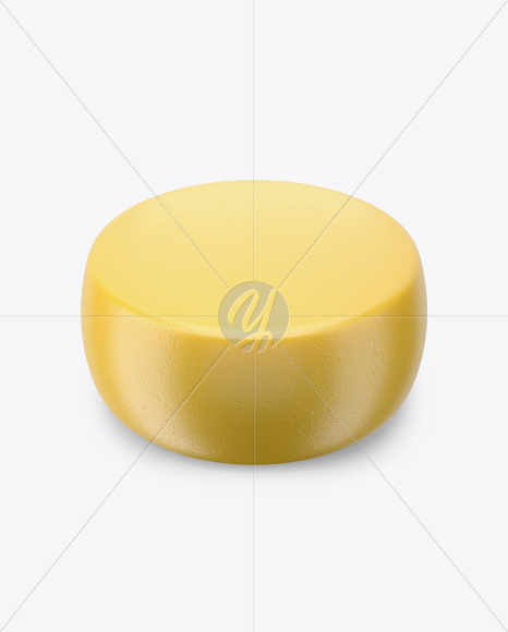 Cheese Wheel Mockup - High Angle Shot
