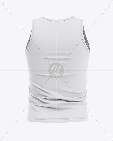 Men's Jersey Tank Top Mockup - Back View