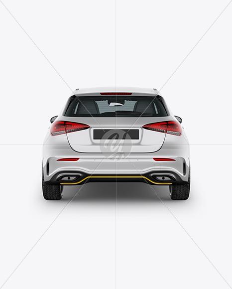Hatchback 5-doors Mockup - Back View
