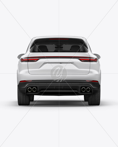 Luxury Crossover 5-doors Mockup - Back View