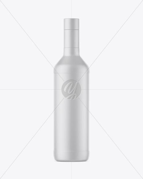 500ml Matte Ceramic Bottle Mockup