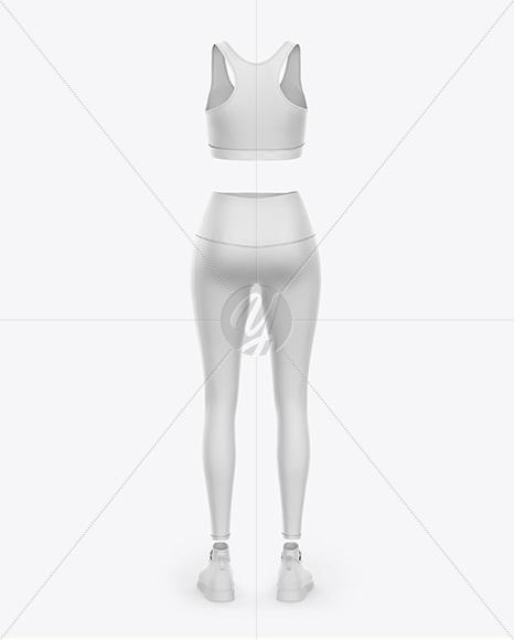 Fitness Kit Mockup - Back view