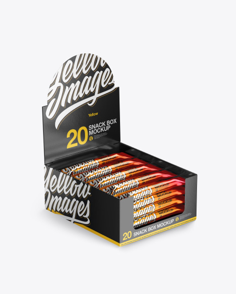 Metallic Snack Package Mockup Half Side View