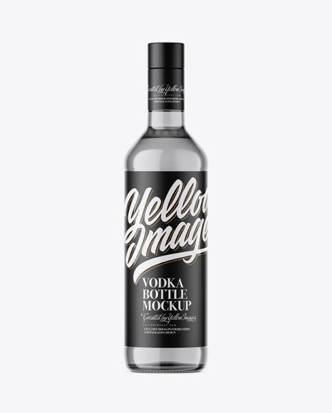 Download 500ml Grey Glass Vodka Bottle Mockup Object Mockups