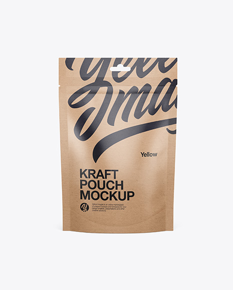 Kraft Stand Up Pouch Mockup - Front View