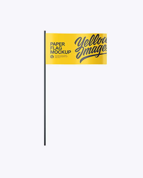 Download Paper Flag Mockup Front View In Object Mockups On Yellow Images Object Mockups PSD Mockup Templates