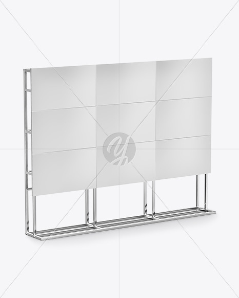 Banner Stand Mockup- Half Side View