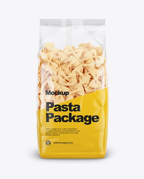 Fiocchi Rigati Pasta Mockup - Front View