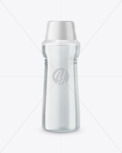 Glass Water Bottle in Shrink Sleeve Mockup