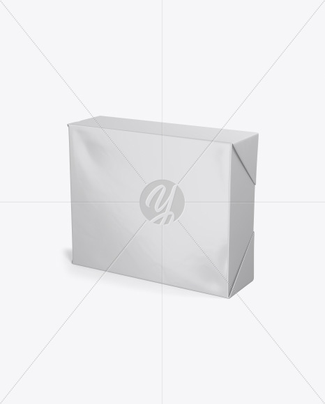 Stock Cube Mockup - Half Side View (High Angle Shot)