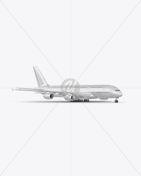 Aircraft Mockup - Halfside view