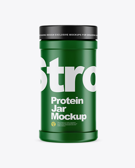 Matte Protein Jar Mockup In Jar Mockups On Yellow Images Object