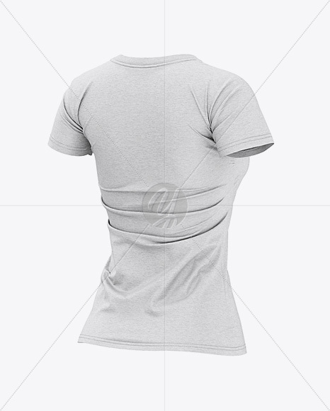 Download Melange T Shirt With V Neck Mockup Yellowimages