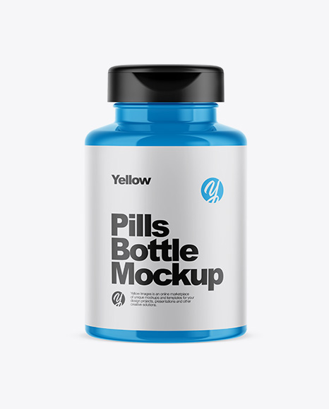 Download Glossy Pills Bottle Mockup Object Mockups