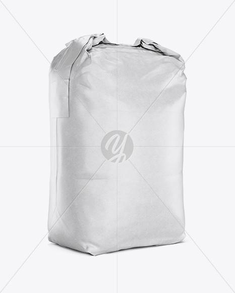 2 kg Matte Paper Bag Mockup - Halfside View
