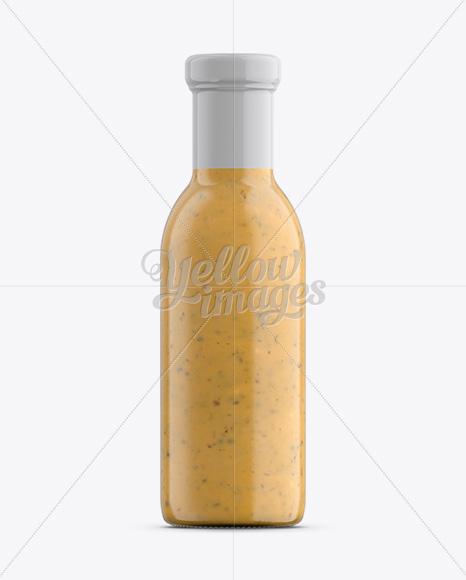 Download Salsa Sauce Bottle W Shrink Band Mockup In Bottle Mockups On Yellow Images Object Mockups PSD Mockup Templates