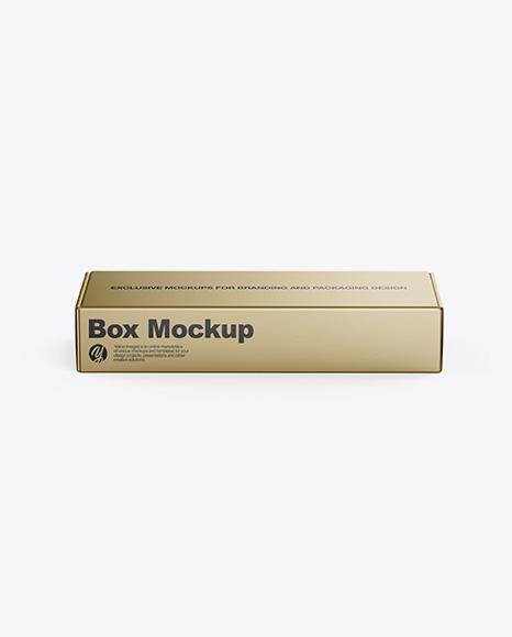 Download Metallic Box Mockup - Front View (High-Angle Shot) Object Mockups