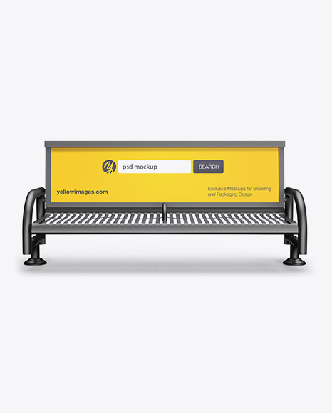 Download Street Bench Advertising Mockup Front View In Outdoor Advertising Mockups On Yellow Images Object Mockups Yellowimages Mockups
