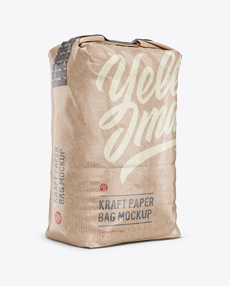 Download 3 Kg Kraft Paper Bag Psd Mockup Halfside View Free 751424 Psd Mockup Templates Creative Best Design For Download Yellowimages Mockups