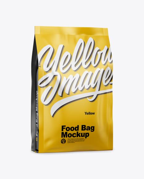 Download Matte Food Bag Mockup - Half Side View Object Mockups