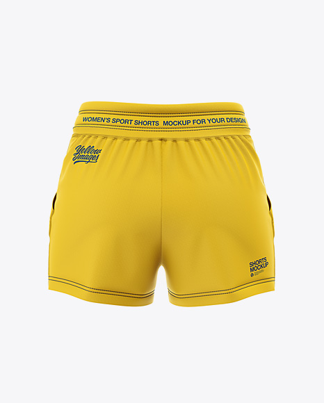 Download Shorts Mockup Front View Yellow Images