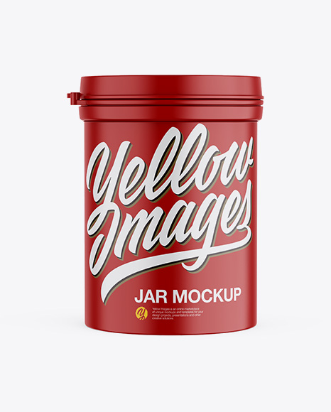 Download Free Matte Jar Mockup - Front View PSD Template