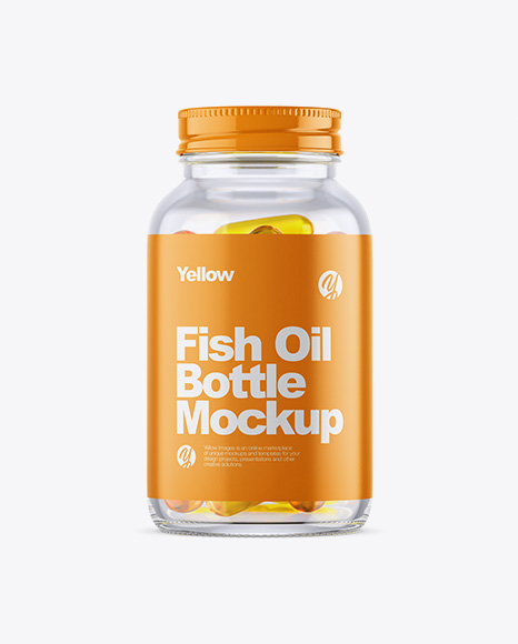 Download Clear Fish Oil Bottle Mockup PSD - Free PSD Mockup Templates