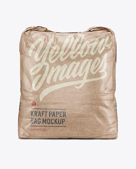 5 kg Kraft Paper Bag Mockup - Front View