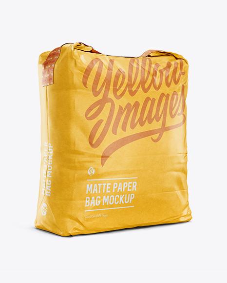 5 kg Matte Paper Bag Mockup - Halfside View