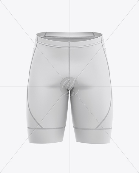Men's Cycling Shorts Mockup - Front View