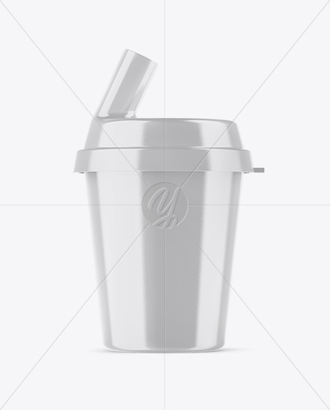 Glossy Pill Swallowing Cup Mockup