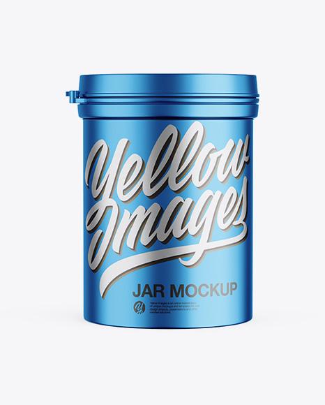 Download Matte Metallic Jar Mockup - Front View Object Mockups
